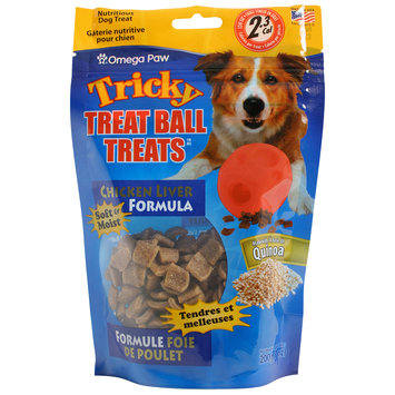 Omega Paw OP20300 Tricky Treat Ball Treats Chicken