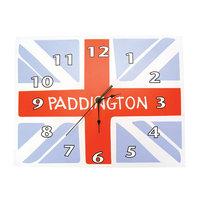 Trend Lab Paddington Bear Union Jack Wall Clock