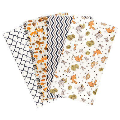 Trend Lab Friendly Forest Deluxe Flannel Burp Cloths (Set of 4)