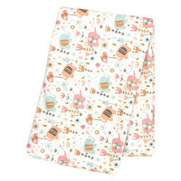 Trend Lab Playful Elephants Deluxe Flannel Swaddle Blanket