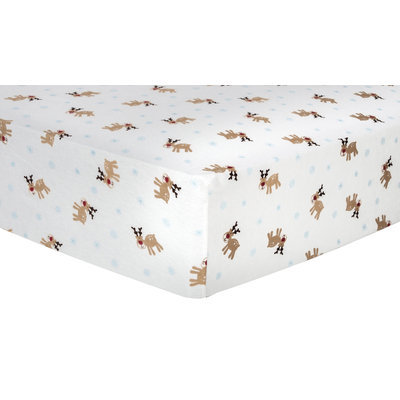 Trend Lab Reindeer Deluxe Flannel Fitted Crib Sheet