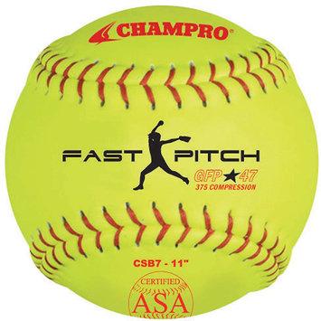 Champro Sports Champro Asa Game Fast Pitch Softballs 1 Dozen 11 Inch 11 Inch/Optic Yellow