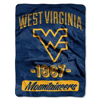 The Northwest Company West Virginia University Mountaineers Plush Fleece Throw