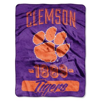 The Northwest Company Clemson University Tigers Plush Fleece Throw