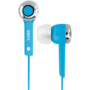 Coby Earbud Headphones With Built-In Mic