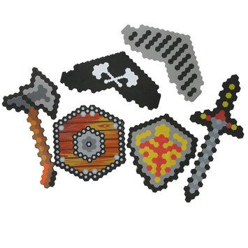 Manley Toys u.s.a., Ltd 6-Piece Pirate & Knight Foam Battle Set