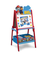 Delta Children Paw Patrol Wooden Double Sided Activity Easel with Storage