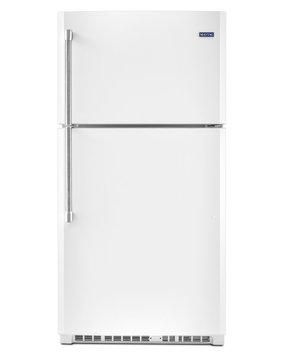 Maytag MRT711BZDH 21.2 cu. ft. Top-Freezer Refrigerator with 3 Shelves, 1 Fixed Full-Width Gallon Door Bin, 3 Adjustable Partial-Width Gallon Door Bins, 1 Fixed Full-Width Glass Freezer Shelf and BrightSeries LED Lighting: White