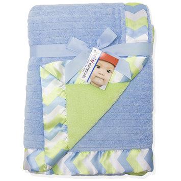 Baby Essentials Blue Chevron Blanket