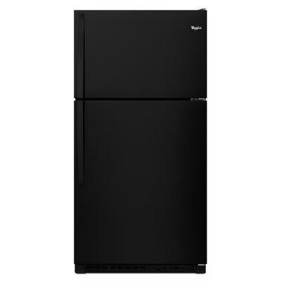 Whirlpool - 20.5 Cu. Ft. Top-freezer Refrigerator - Black