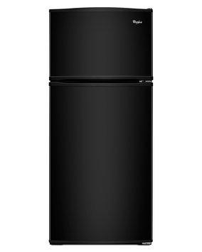 Whirlpool 16-cu ft Top-Freezer Refrigerator (Black) WRT316SFDB