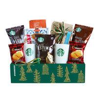 Givens Gift Basket, Starbucks Holiday Evergreen Sampler, 5 Lb