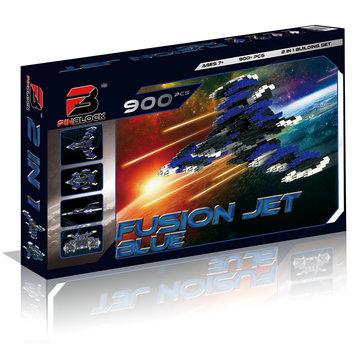 Pinblock 2-in-1 Fusion Jet 900-Piece Building Set