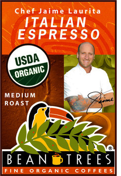 Beantrees Organic Chef Jaime Italian Espresso Whole Bean Coffee 12oz