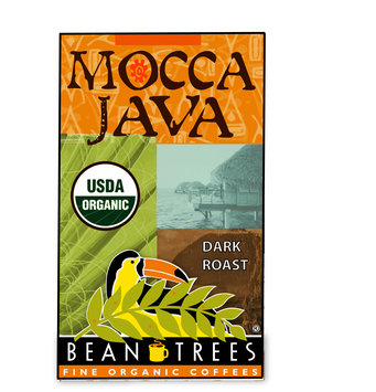 Beantrees Organic Mocca Java Whole Bean Coffee 12oz