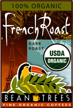 Beantrees Organic French Roast Whole Bean Coffee 12oz