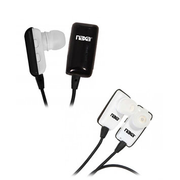 Naxa - Wireless Earbuds with Bluetooth Technology - Black