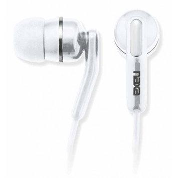 Naxa - High Performance Isolation Stereo Earphones - White