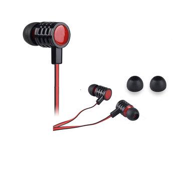 QuantumFX - Universal Handsfree Earphones with In-Line Microphone - Red