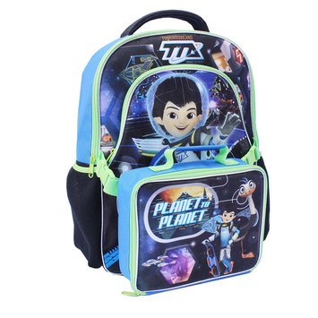 Ruz Backpack - Disney - Miles From Tomorrowland Planet w/ Lunch Bag New 392757