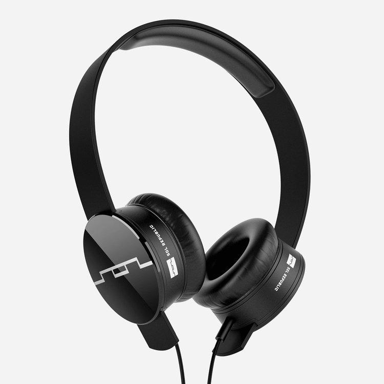 Sol Republic Tracks Headphones Black, 1-Button Mic