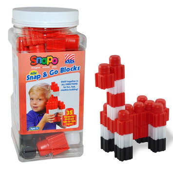 Snapo 32A035RD Snap & Go-35 Big Building Blocks Red