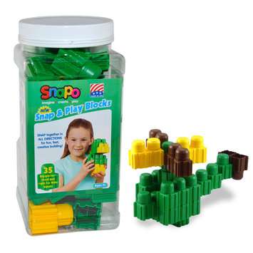 Snapo 32A035GN Snap & Play-35 Big Building Blocks Green