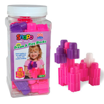 Snapo 32A035PK Dream & Play-35 Big Building Blocks Pink