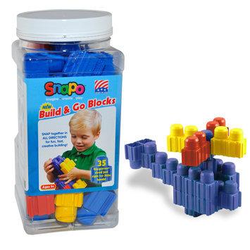 Snapo 32A035BL Build & Go-35 Big Building Blocks Blue
