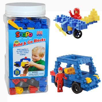Snapo 16A277BL Build & Go-Over Building Blocks 275 Pcs Blue