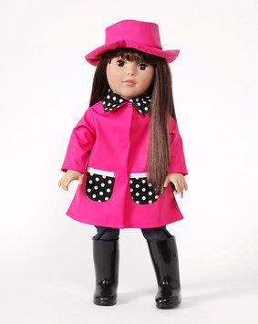 Dollie & Me Pink Raincoat Doll