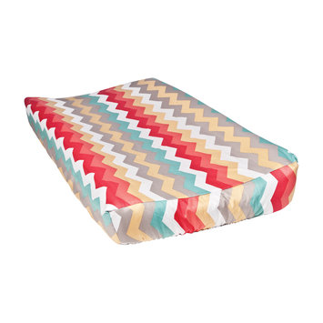 Trend Lab Waverly Pom Pom Play Chevron Changing Pad Cover