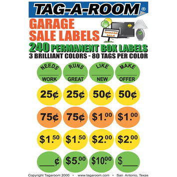 Uboxes Llc Garage Sale Moving Labels Identify Item Prices with 240 labels