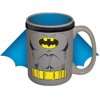 Icup Ceramic Mug - DC Comics - Batman Muscle Chest Cape 15 oz. Cup New 7082