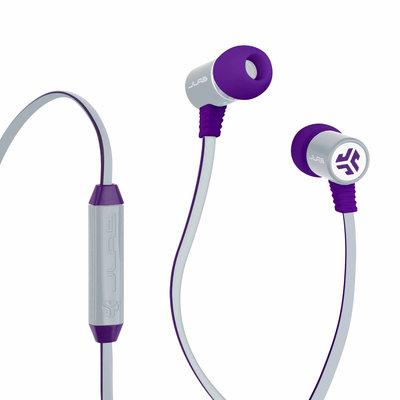 JLab Bass Rugged Earbuds, Purple/Gray