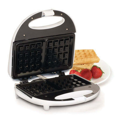Elite Cuisine Stainless Steel Belgian Waffle Maker (Black)