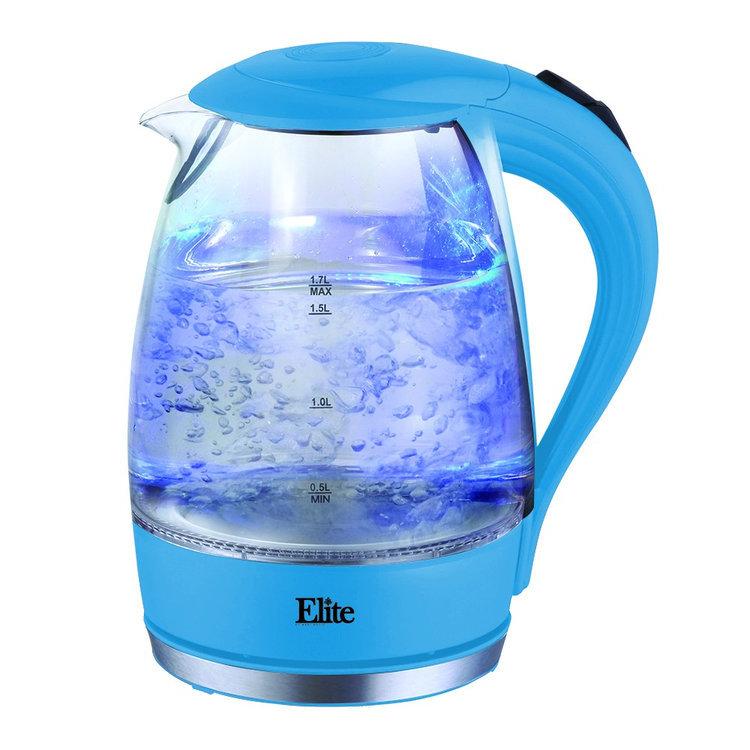 Elite Platinum - 7.2-cup Electric Kettle - Blue