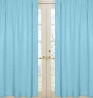 Sweet Jojo Designs Chevron Window Panel Pair in Turquoise
