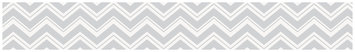 Sweet Jojo Designs Zig Zag Wall Paper Border Color: Grey and Pink
