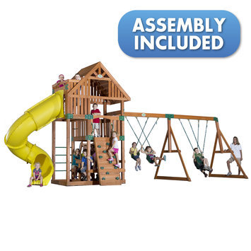 Backyard Discovery Swings, Slides & Gyms Excursion All Cedar Playset Browns / Tans 54283coma