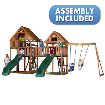 Backyard Discovery Swings, Slides & Gyms Vista All Cedar Playset Browns / Tans 54273coma