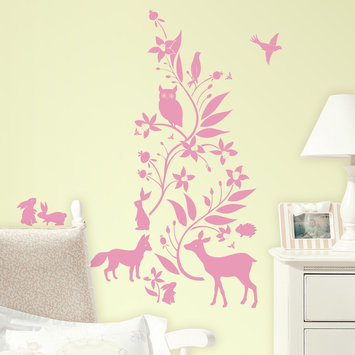 York Wallcoverings, Inc. Forest Friends Peel and Stick Giant Wall Decals