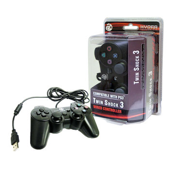 Hydra Performance 611888263014 PS3 Wired TwinShock 3, Black