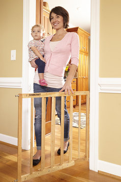 Storkcraft Easy Walk-Thru Wooden Safety Gate Finish: Natural