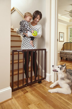 Storkcraft Easy Walk-Thru Wooden Safety Gate Finish: Espresso