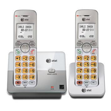AT & T EL51203 2 Handset Cordless Phone, white