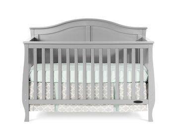 Foundations Worldwide Child Craft Camden 4-in-1 Lifetime Convertible Cool Gray Crib