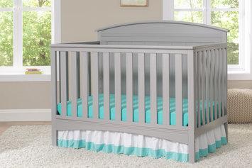 Delta Children Archer 4-in-1 Convertible Crib, Grey