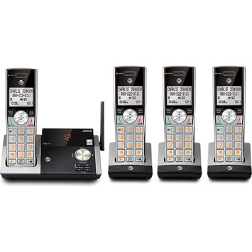At & t - Cl82415 Dect 6.0 Expandable Cordless Phone With Digital Answering System - Silver/black