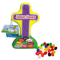 Scripture Candy 09077X Candy-E-Jelly Bean Prayer Cross Tin With Hangtag 1.25 oz.